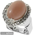 Dallas Prince Gold over Silver Multi-gemstone Ring