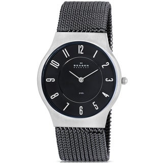 Skagen Men's Mesh Black Quartz Watch