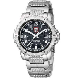 Luminox Men's 'Mariner 6252' Stainless Steel Watch