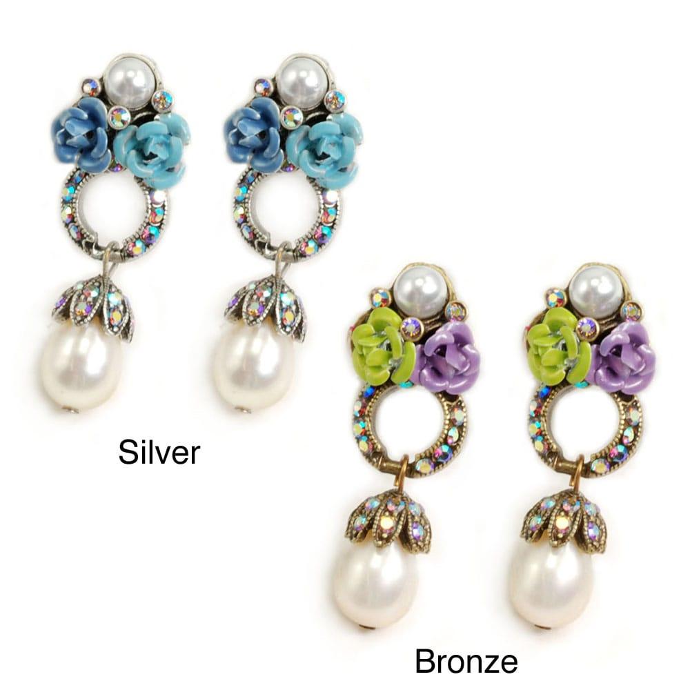Sweet Romance Rose Cluster Loop Earrings at Sears.com