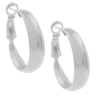 Sunstone Sterling Silver Tapered Hoop Earrings