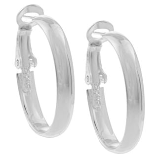 Sunstone Sterling Silver Wide Hoop Earrings