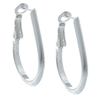Sunstone Sterling Silver Teardrop Tube Hoop Earrings