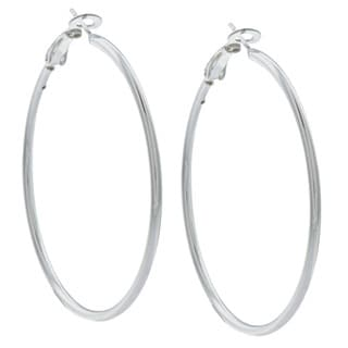 Sunstone Sterling Silver Tailored Tube Hoop Earrings