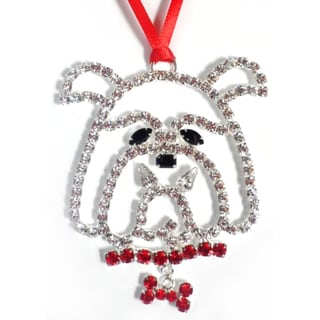 Buddy G's Austrian Crystal Bulldog Ornament
