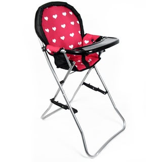 The New York Doll Collection Pink/ Black Doll High Chair