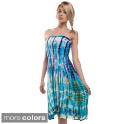 Tie Dye Strapless Summer Love Dress (India)