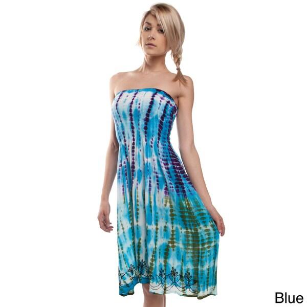 Tie Dye Strapless Summer Love Dress (India)