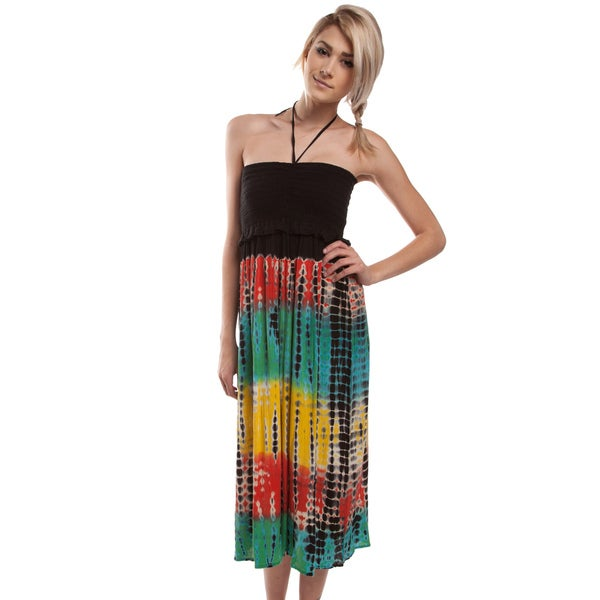 Black Rasta Tie Dye Dress (India)