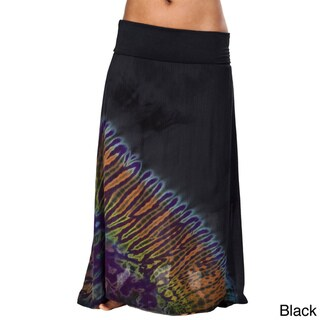 Mudmee Tie Dye Long Gypsy Skirt (Nepal)