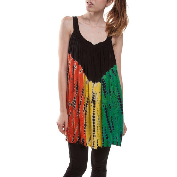 Rasta Tie/Dye Baby Doll Beach Top/Dress (India)