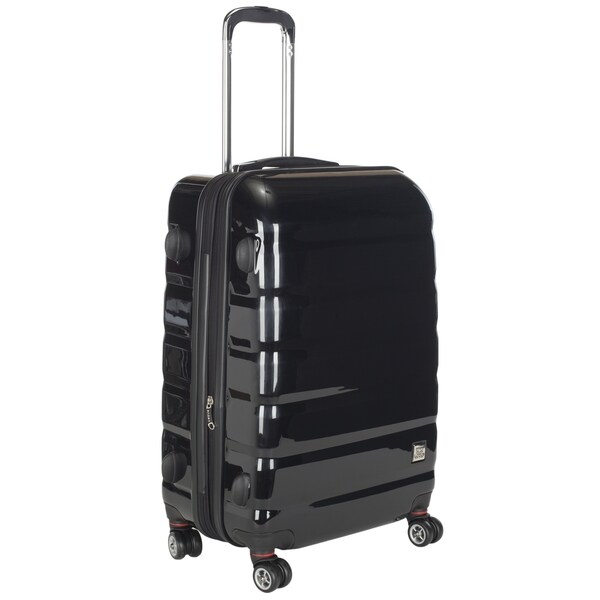 Lotus Pheonix 20-inch Black Hardside Carry On Upright Suitcase