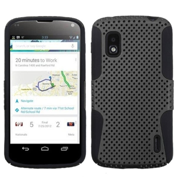 BasAcc Grey/ Black Case for LG E960 Nexus 4