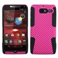 BasAcc Hot Pink/ Black Case for Motorola XT907 Droid Razr M