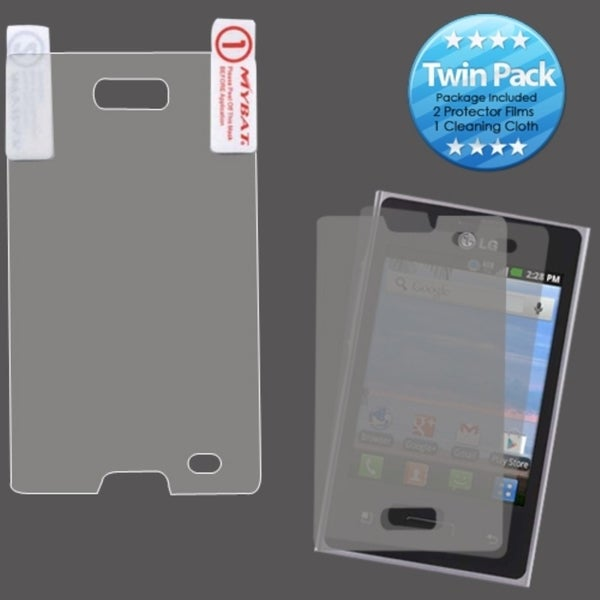 INSTEN Clear Screen Protector Twin Pack for LG L35G Optimus Logic