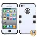 BasAcc Ivory White/ Black TUFF Hybrid Case for Apple iPhone 4/ 4S
