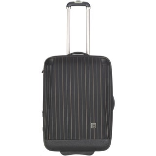 Lotus Oneonta 20-inch Black Carry On Upright Suitcase