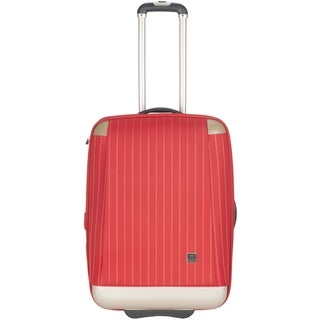 Lotus Oneonta 20-inch Red Carry On Upright Suitcase