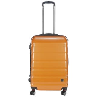 Lotus Pheonix 20-inch Orange Hardside Carry On Upright Suitcase
