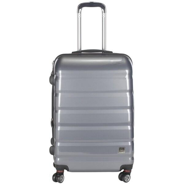 Lotus Pheonix 20-inch Grey Hardside Carry On Upright Suitcase