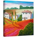 Susi Franco 'Provence Moonrise' Gallery-Wrapped Canvas