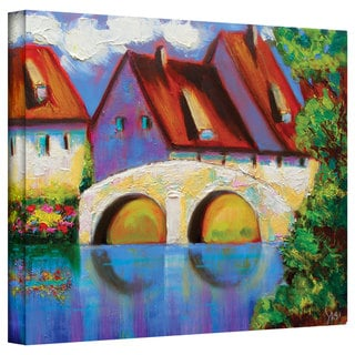 Susi Franco 'German Village on Rhine' Gallery-Wrapped Canvas