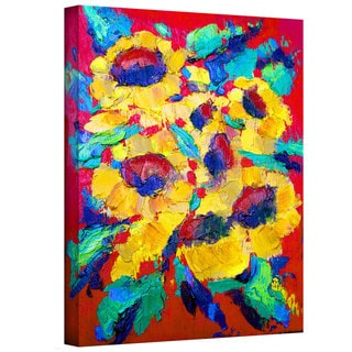 Susi Franco 'Sunflower on Shingel Roof' Gallery-Wrapped Canvas
