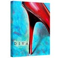 Susi Franco 'Diva' Abstract Gallery-Wrapped Canvas