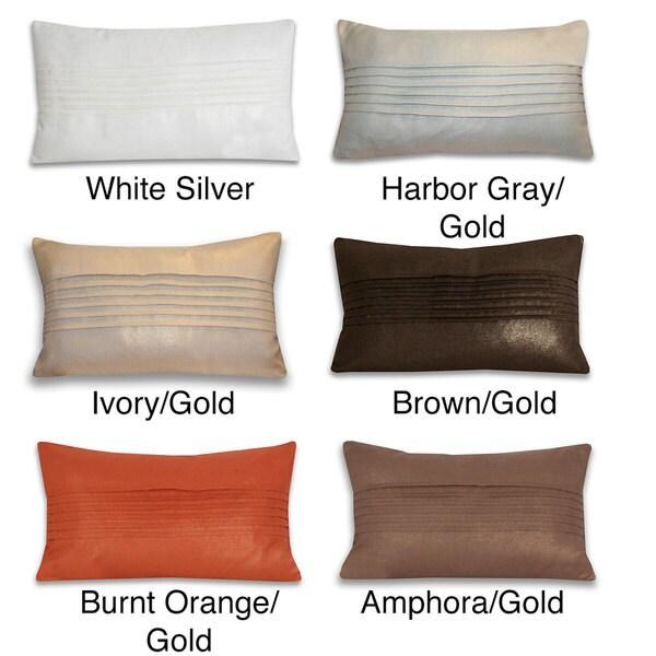 Thro Lori Pleated Pillow (14 x 24)