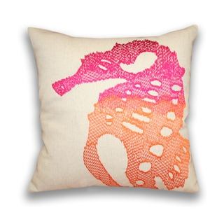 Ombre Sea Horse 16-inch Square Down Filled Pillow