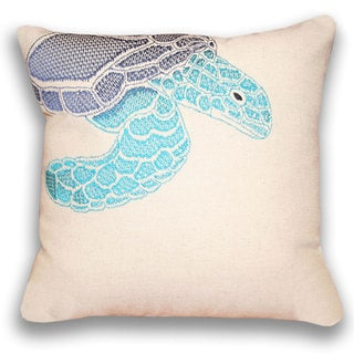 Ombre Sea Turtle 16-inch Square Pillow 16 -inches