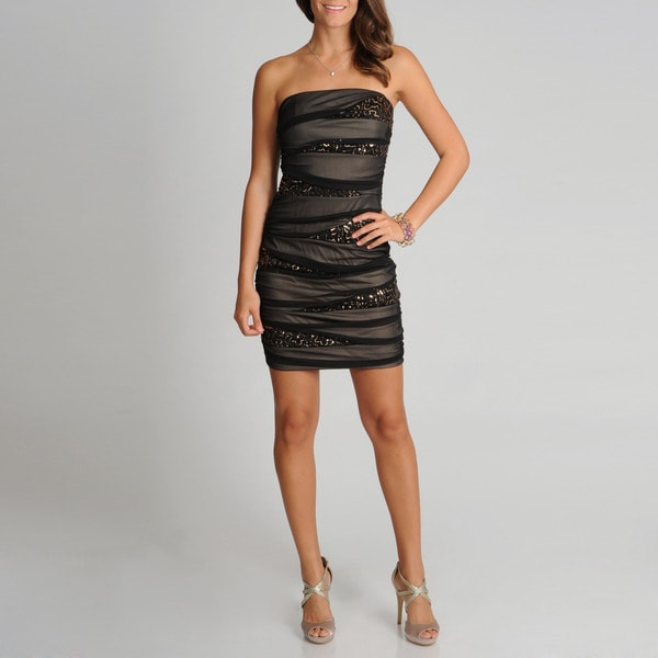 A. Byer Juniors Sequin Embellished Party Dress