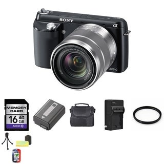 Sony Alpha NEX-F3 16MP Mirrorless Digital Camera with 18-55mm Lens and 16GB Bundle