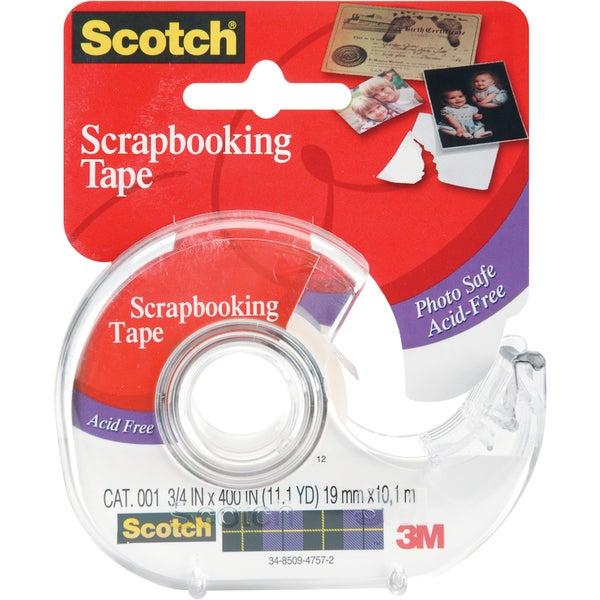 3M 3 Pack Scotch Scrapbooking Tape Photo Safe Clear