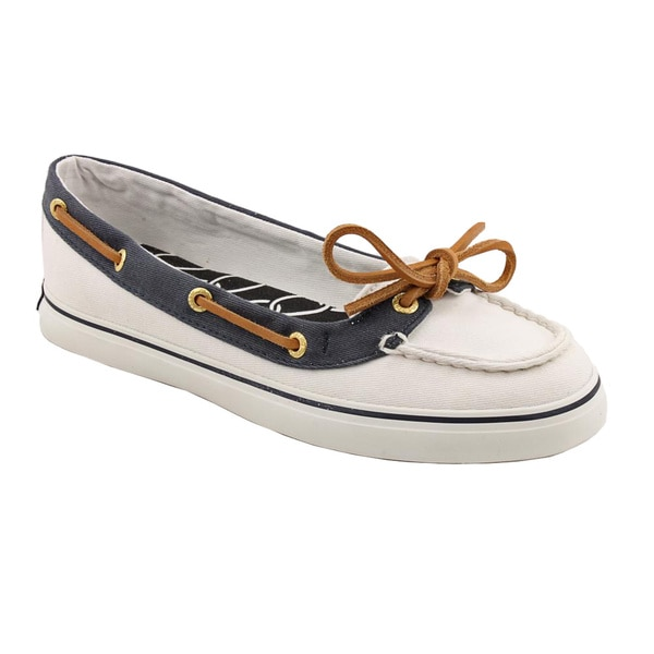 Sperry Top Sider Women's 'Lola' Basic White Textile Casual Shoes