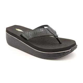 Volatile Women's Black 'Swampy' Synthetic Sandals