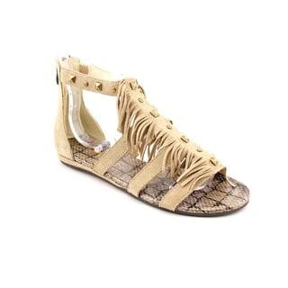 Luichiny Women's 'Meant to Be' Beige Regular Suede Sandals