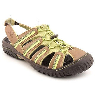 Jambu Women's 'Coastline' Green Leather Sandals