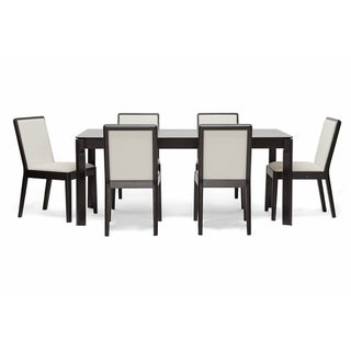 Baxton Studio Maeve 7-piece Dark Brown Modern Dining Set