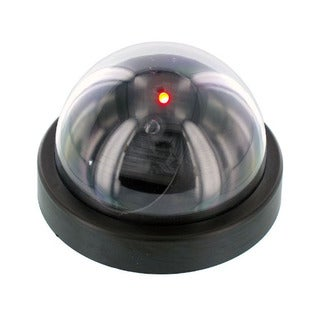 Dummy Security Camera Dome Red Flashing Lights (Pack of 2)