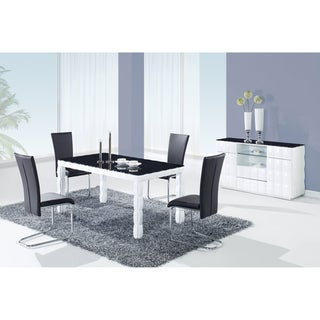 Black Tempered Glass Top Dining Table