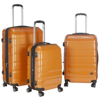 Lotus Pheonix 3-piece Orange Hardshell Spinner/ Rolling Luggage Set