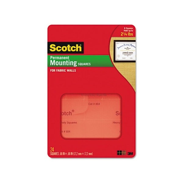 Scotch 35 Pack Removable Cubicle Mounting Squares Precut Squares