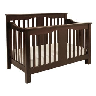 Million Dollar Baby Classic Annabelle 4-in-1 Convertible Crib with Toddler Rail in Espresso