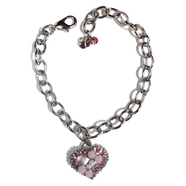 Buddy G's Austrian Crystal Heart/ Bone Link Collar