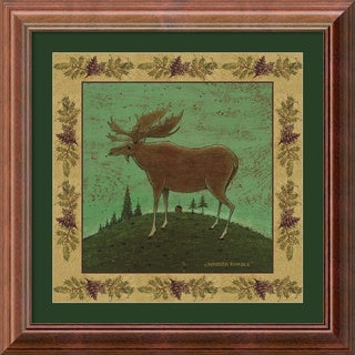 Warren Kimble 'Folk Moose' Framed Art Print