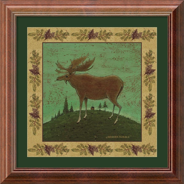 Warren Kimble 'Folk Moose' Framed Art Print