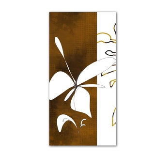 Jan Weiss 'Espresso Foral I' Unwrapped Canvas