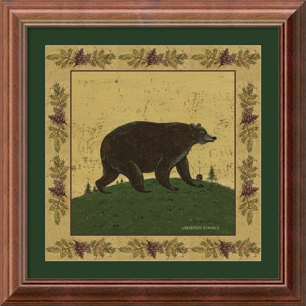 Warren Kimble 'Folk Bear' Framed Art Print