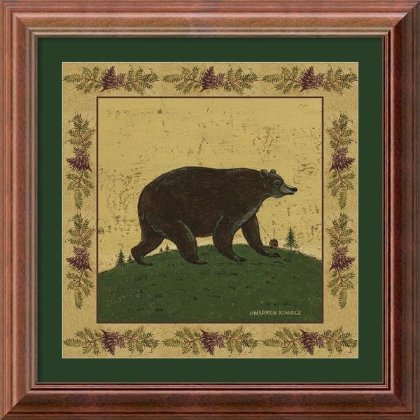 Warren Kimble 'Folk Bear' Framed Art Print